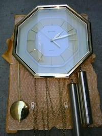 gold-colored pendulum clock Kelowna, V1Y 8C7