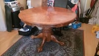 Solid Oak Pedestal Table + 4 Chairs Tiverton, 02878