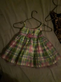 girl's green and red plaid sleeveless dress Toronto, M1T 1G7