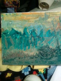 blue and brown abstract painting Leonardtown, 20650