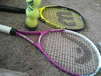 two yellow and white Head and Wilson tennis rackets Ft. Washington, 20744