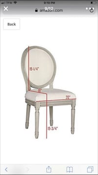 Restoration hardware look dining chairs Safavieh brand new price for both San Tan Valley, 85143