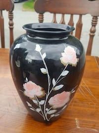black and white floral ceramic vase Surrey, V3R 7C1