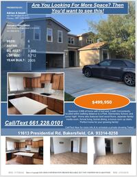 HOUSE For sale 4+BR 3BA Bakersfield