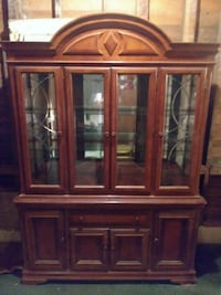 brown wooden framed glass display cabinet Farmville, 27828