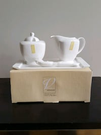 BRAND NEW IN BOX- Sugar and Creamer Set with Tray Vaughan, L4H 1X5