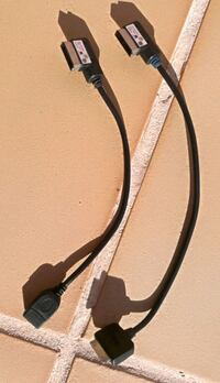 MDI cable iPod-iphone y AMI-USB. Viladecans