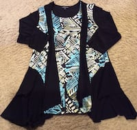 Jessica black, teal, and white tunic ( new ) Calgary, T2J 1V4