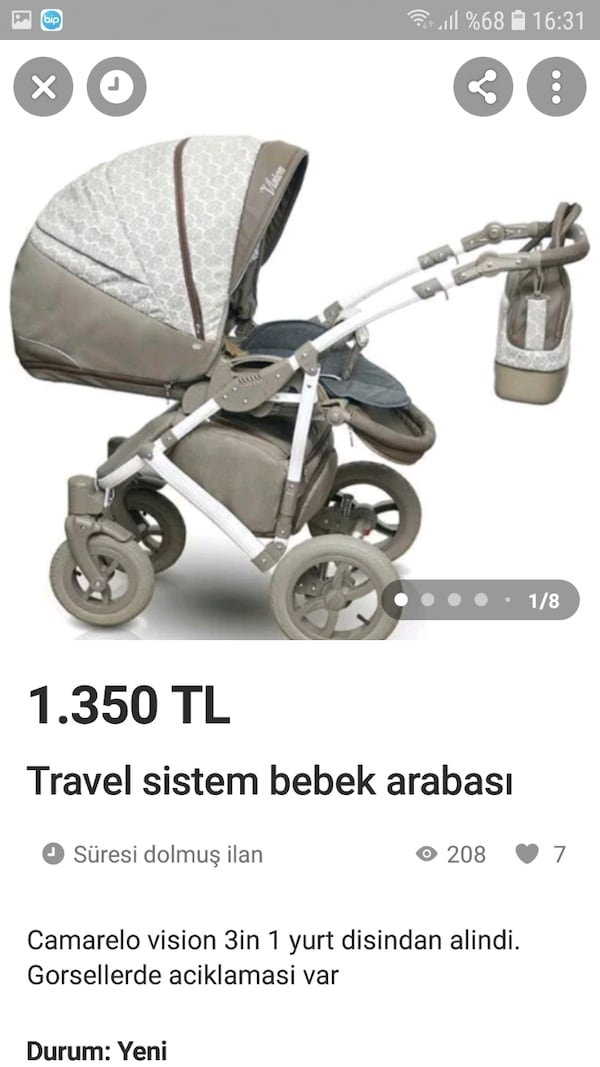 Travel sistem bebek arabası 3in 1 05a1b80f-5c45-4726-af52-80c9e3865b99