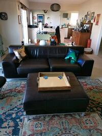 EUC Ikea Couch and Ottoman