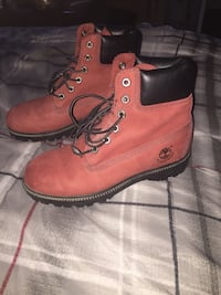pair of red Timberland work boots Baltimore, 21224