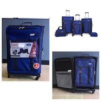Coleman Coleman Utility 5 Piece Spinner Luggage Set Blue Stafford, 77477