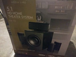 5.1 HD Surround Sound Home Theater System with 1,500 watts