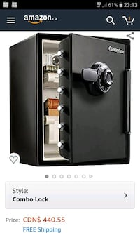 XXL 1 hour fire and water security safe. like new. Toronto, M5R 2L8