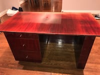 rectangular brown wooden table with drawer 774 km