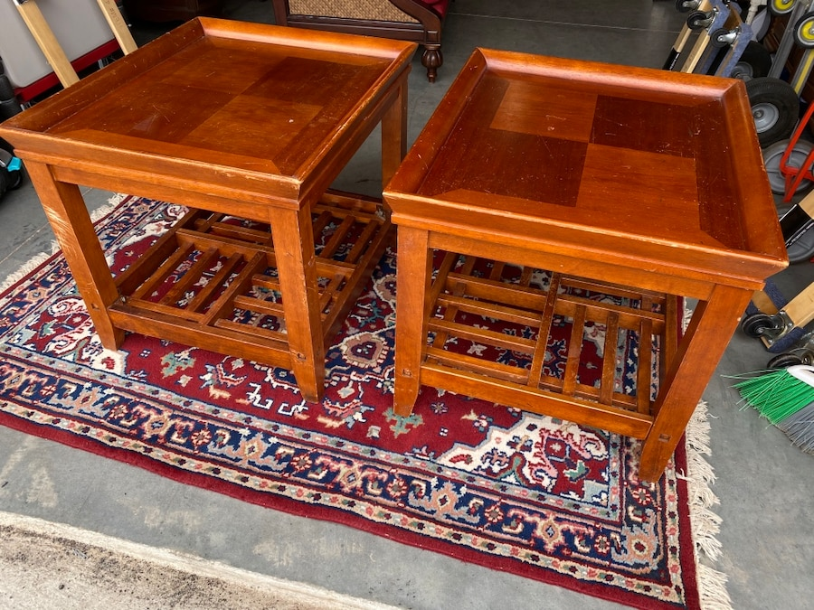 Photo Pair of Side Tables - Price for Both