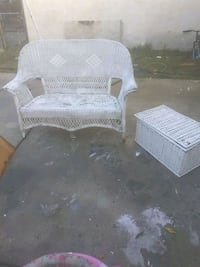 white wicker armchair and ottoman Bakersfield, 93308