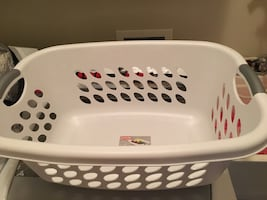 Large plastic laundry basket
