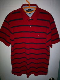 red and black stripe polo shirt Châteauguay, J6J 5J5