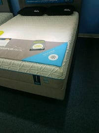 white and blue mattress with box spring Midland, 79711