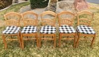5 Small Wooden Antique Chairs Las Vegas, 89109