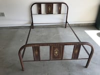 Full size metal frame bed