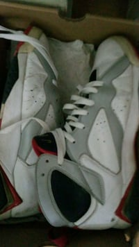 pair of white Air Jordan basketball shoes Toronto, M5A 4S8