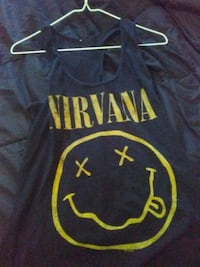 black and yellow Nirvana graphic racerback tank top Berks County, 19608