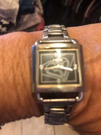 square silver analog watch with link bracelet San Diego, 92109