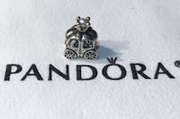 "Authentic Pandora ""Royal Carriage"" Charm. Sterling Silver / 14 K Gold / White Pearl. New w/o box. Herndon, 20194"
