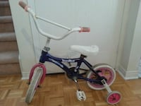 Girl's bike with removable training wheels   Oakville, L6M 3M4