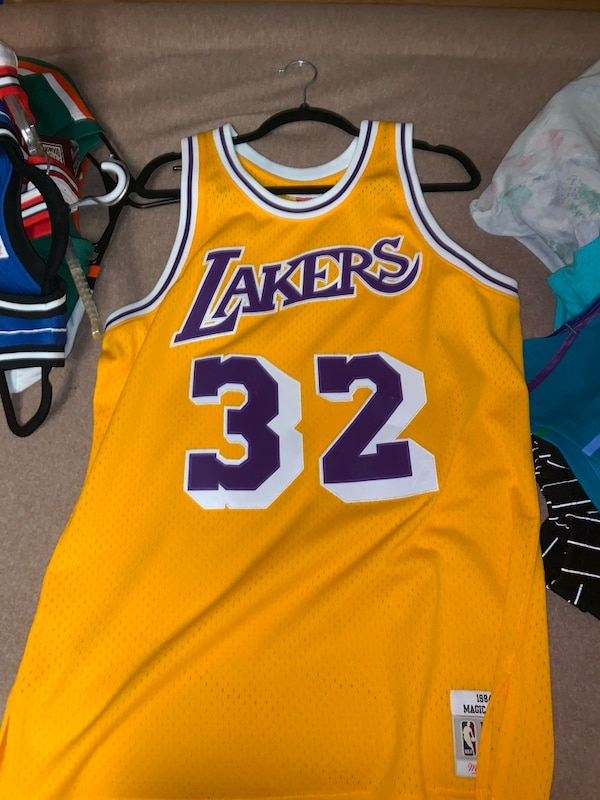 936a7b433 Used yellow and white Lakers 24 jersey for sale in Southmont - letgo