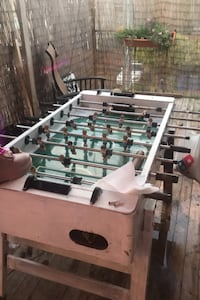 Fooseball table - throwing out end of day