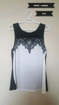 black and gray floral tank top Calgary, T2V 0P7