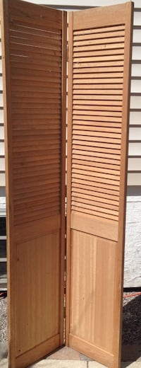 Cedar wooden 2-panel door or room divider Hamilton