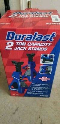 Black and blue Jack stands. Sierra Vista