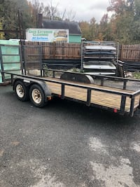 Black and brown utility trailer Severn, 21144