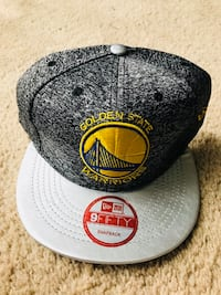 grey and yellow 9fifty Golden State Warriors snapback cap