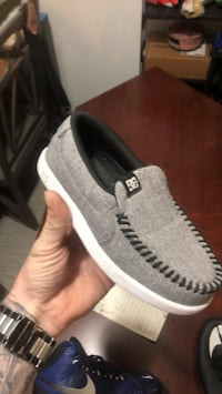 pair of gray-and-white low top sneakers Kelowna, V1X 2P2