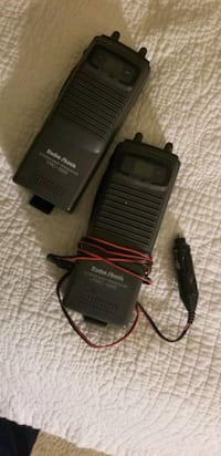 2 walkie talkies with car charger