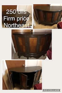 Brown wooden tv stand with cabinet if you got the money ok if not dont waist time sorry El Paso, 79924