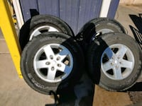 jeep wrangler. rims ,tires Hagerstown, 21740