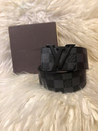 Black leather louis vuitton belt Santa Ana, 92704