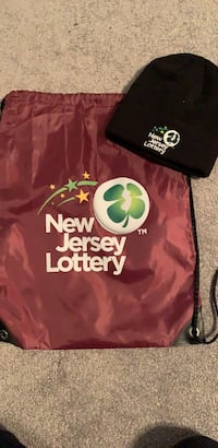 New Jersey Lottery bag and hat Lyndhurst, 07071
