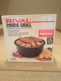 Rival crock grill smokeless indoor electric grill box West Des Moines, 50265
