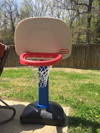 Toddler's blue, white, and red little tikes portable basketball hoop Quantico, 22134