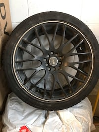 RMS Set of Rims. Mounted of new tires used half summer. 225/40zr18. Includes lug nuts Mississauga, L5W 1X4