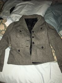 Gray and black button-up blazer coat Noble, 71462