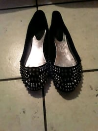 pair of black leather flats Los Angeles, 90033