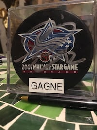 Simon Gagne Signed Puck (NHL All-Star Game Puck) Hamilton